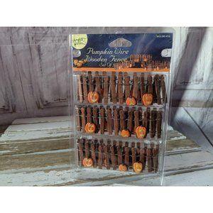 Lemax Pumpkin Wire Wooden Fence Halloween Collecti